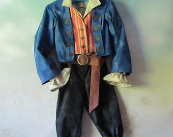 Child's Henry Turner Pirate Costume: Jacket, Shirt, Vest, Pants, Belt - Dead Men Tell No Tales - Size 8 & 10 - All Cotton, Ready To Ship