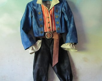 Child's Henry Turner Pirate Costume: Jacket, Shirt, Vest, Pants, Belt - Dead Men Tell No Tales - Size 8, 10, 12 - All Cotton, Ready To Ship
