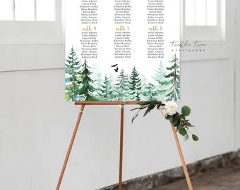 Seating Chart on Foam Core - Rustic Forest (Style 0010)