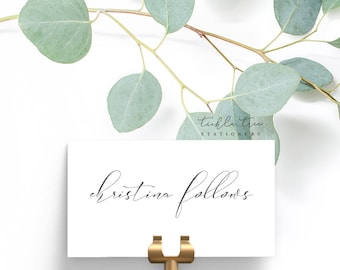 Flat Place Cards/Reception Cards/Escort Cards - Script/Calligraphy Font
