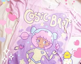 Cosmic Brat Kawaii T-shirt - Uchuu kei Space Shirt All-Over Print