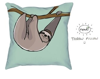 Sloth Pillow, Sloth Home Gift, Cute Sloth Gift, Sloth, Sloth Design, Sloths, For Sloth Lovers, Sloth Housewarming, Sloth Birthday Gift