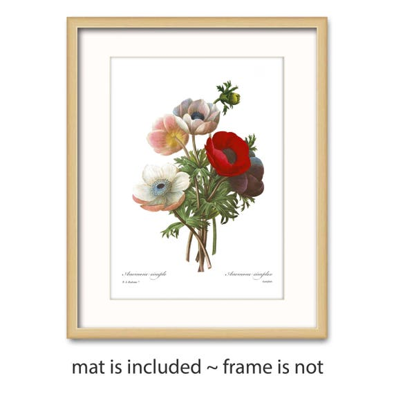 Poppy art w mat flower nursery gift for her bedroom wall for Bedroom gifts for her
