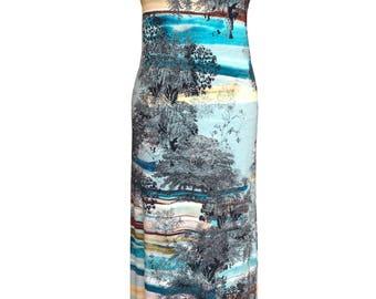 Summer Maxi Dress, Plus Size Maxi Dress, Printed Maxi Dress, Cotton Maxi Dress, Jersey Dress, Printed Dress, Designer Dress