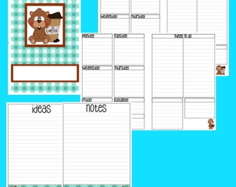 B6 Gopher Coffee Inserts for TN Weekly Printable