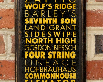 Craft Breweries Columbus OH Wall Art Plaque Sign Home Decor Scroll Vintage Style Gift Present Beer Brewery Ale Stout Pilsner IPA Antique