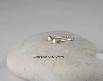 Tiny Gold Earrings 14K Gold Stud Earrings Minimal Gold Earrings Simple Earrings Tiny Gold Studs