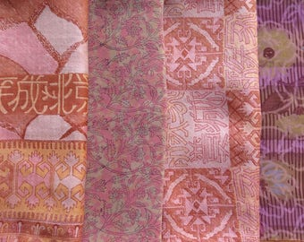 Fat Quarters, Silk Fabric, Sari Silk, FQ 106