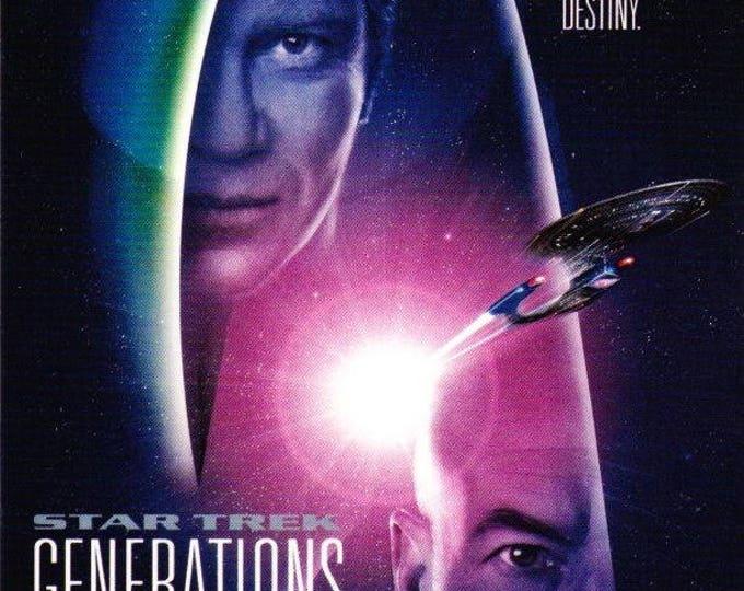 Vintage Postcard, Star Trek, Generations, 1994, Classico, Paramount Pictures