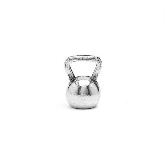 Mini Kettlebell Charm - Add a Charm to a Custom Charm Bracelets, Necklaces or Key Chains -  Nickel Free Charms