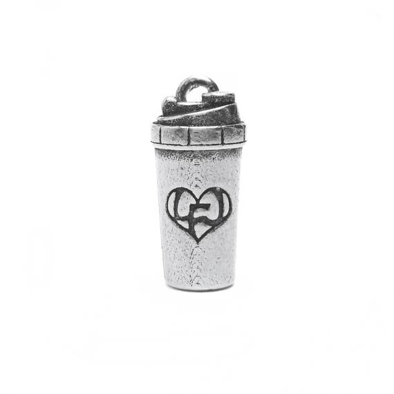 Protein Shaker Bottle Charm - Add a Charm to a Custom Charm Bracelets, Necklaces or Key Chains -  Nickel Free Charms