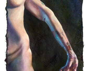 HYPERMOBILITY: BRIN  (art print by Mandem) - Figure Painting - disability / disabled / EDS / cripplePunk art