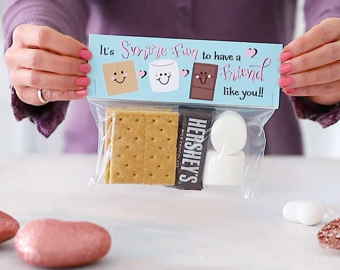 It's S'more Fun to Have a Friend - Printed Bag Toppers for Snack Size Ziploc Baggies