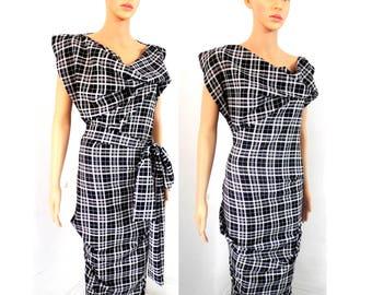 BURBO Classic 'Sy-Anne' in Tartan *wear two ways*
