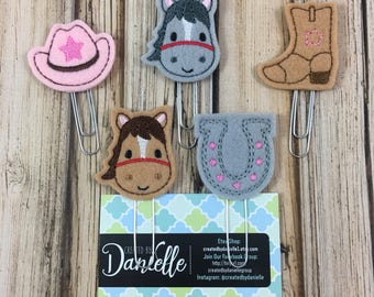 Easter bookmark sets gifts for book lovers paperclip horse bookmark set horse lover gift horse gifts bookmark gift for horse lover negle Image collections