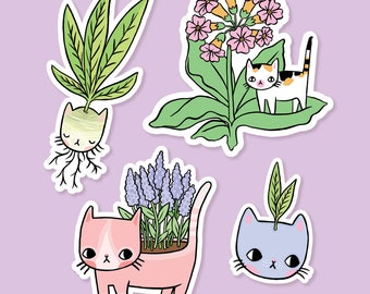 Plant Kitty Vinyl Stickers