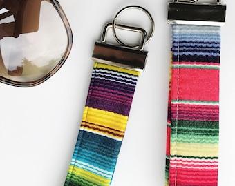 Summer Keychain - Pool Keychain - Boho Wristlet - Boho Keychain - Wrist Strap - Boho Keychain - Colorful Keychain - Trendy Wristlet Keychain