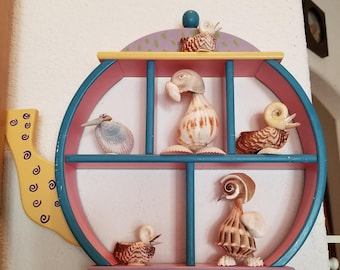 Vintage wood tea pot rack cute in Kitchen with mini tea pots or girls room decor. FREE SHIPPING USA
