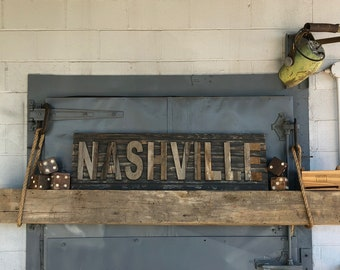 Nashville Reclaimed Barn Wood Wall Art