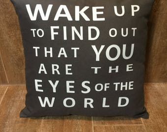 Grateful dead pillow cover - Eyes of the World - wake up to find out that you are the eyes of the world