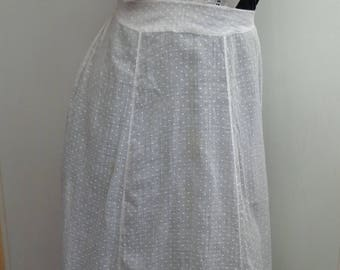 Antique Victorian Edwardian Very Fine Maids Embroidered Full Apron