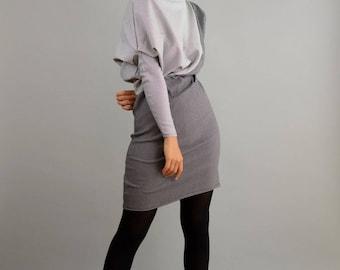 Asymmetrical dress, drape dress, black white dress, party dress, festive dress, patterned dress, graphic pattern, Stretchkleid