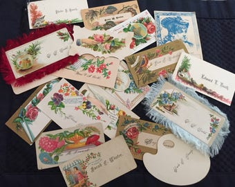 Vintage ephemera: calling cards 23 piece lot