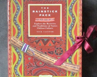 Vintage Chilean Book - The Rainstick Pack, Explore the Mysteries and Traditions of Native Chilean Culture, Nick Gaistor, Sacred Earth 1997