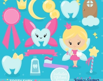 INSTANT DOWNLOAD, tooth fairy clipart for planner stickers, crafts, and projects