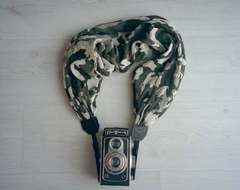Scarf Camera strap Mimetic camera strap Moonlight camera strap Camera strap scarf DSRL camera strap Photographer accessories Camera scarf