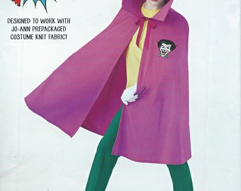UNCUT Simplicity 0692 Misses', Teen, and Men's Cape Sewing Pattern One Size, Joker Cape, Halloween Costume, Cosplay, Superhero