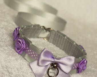 Kittenish Garden - collar for pet play, kitten play, age play, ddlg, lolita
