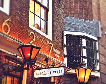 Bar Art, Street Photography, Street Sign, Urban Art, City Photography, Amsterdam, Photography Art, Large Wall Art, Holland, Street Art