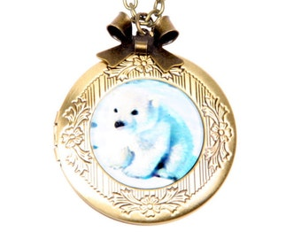 Necklace locket Little Polar Bear 2020m
