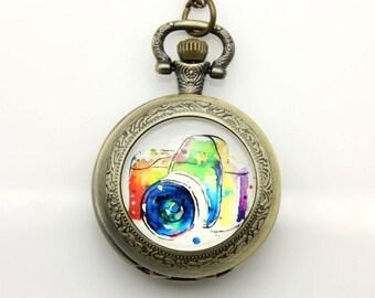 Necklace Pocket watch kamera