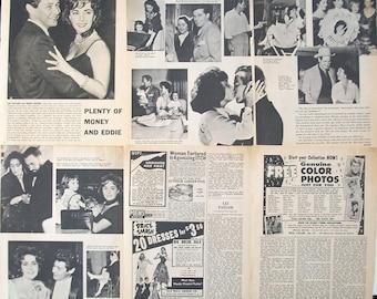ELIZABETH TAYLOR ~ Cleopatra, National Velvet, Giant, Cat On A Hot Tin Roof, A Place In The Sun ~ B&W Articles from 1960-1962 - Batch 1