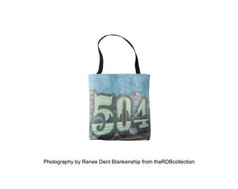 504 Tote - New Orleans Tote - New Orleans Area Code Bag - New Orleans Graffiti - theRDBcollection