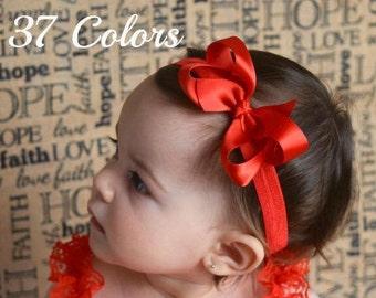 Satin Bow Headband, Baby Bow Headband, Baby Bows, Bow Headband, Baby Headbands, Girls Headbands, Toddler Headband, Infant Headband, Hair Bow