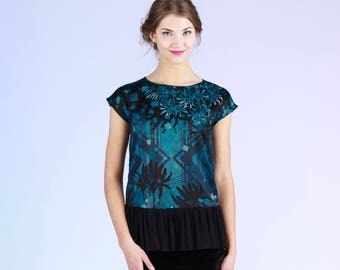 Reflection - top with frill