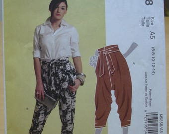 Free shipping! McCall's 5858 baggy pants and sashes sewing pattern sizes 6 to 14 UNCUT