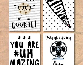 Instant Download Printable Children's Lunch Notes / Love Notes