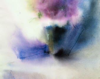 Original Watercolor Painting,  Flower Art, Abstract Watercolor Floral, Painting Flowers on Paper Colorful Art