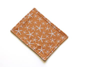 SALE || Reusable Cloth || 24cm x 18cm || Starfish Orange || Fleece Backing