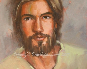 Jesus, Son of David...Original Oil Painting by Maresa Lilley, SND