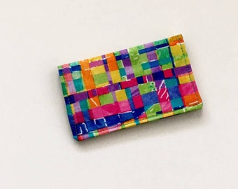 Rainbow Business Card Holder, Colorful Business Card Case, Colorful ID Wallet, Business Card Holder, Gift Card Holder