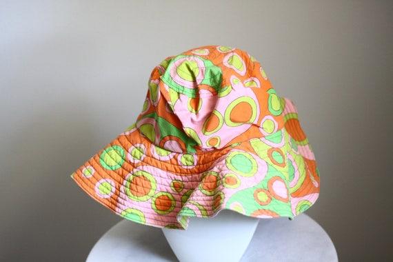 1960s mod bucket hat // 1970s bucket hat // vintage hippie hat