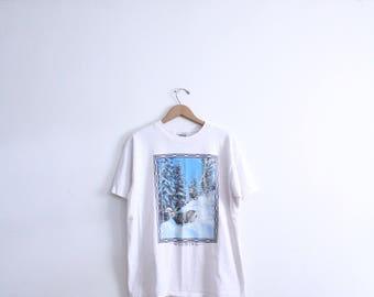 Wyoming Winter Elk T Shirt