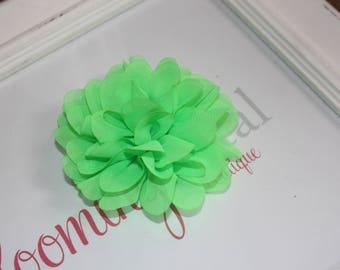 Neon Green Chiffon Hair Clips