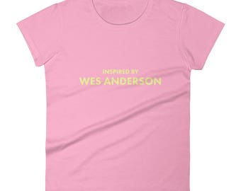 Inspired by Wes Anderson Filmmaker Cinema Shirt Women's short sleeve t-shirt