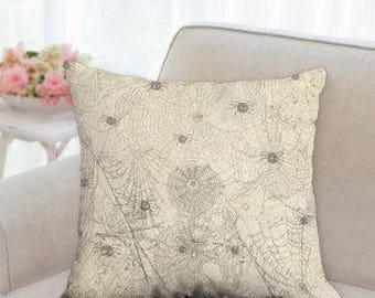 Spider Webs Designer Pillow